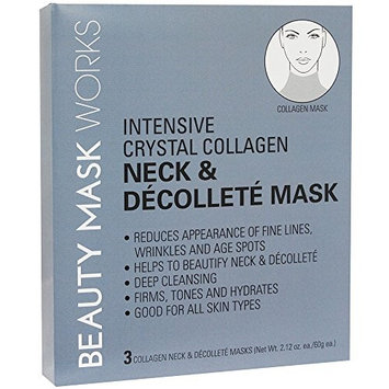 Beauty Mask Works Intensive Crystal Collagen Neck, 3 Count