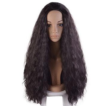 Anogol Hair Cap+Cosplay Wig Kinky Curly Hair Synthetic Wigs for Black Women Fancy Dress