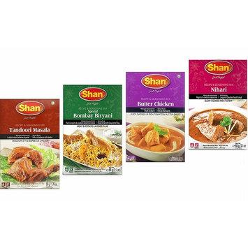 Shan Spices - Variety Pack of 4 (Tandoori, Butter Chicken, Bombay Biryani, Nihari) 50g x4