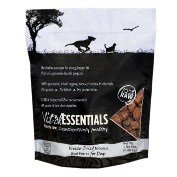 Vital Essentials 100% Freeze-Dried Raw Beef Niblets Entree for Dogs, 1lb 5oz