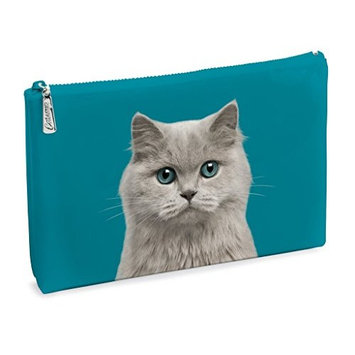 Catseye Cosmetic Makeup Pouch - Blue Eyed Cat, Large