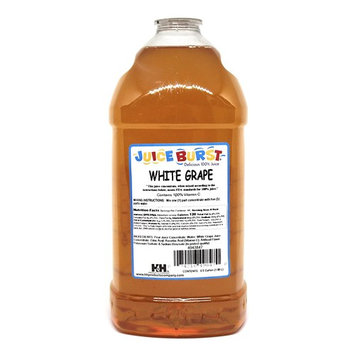 Juice Burst White Grape 100% Juice Concentrate - No Artificial Color Added - Clear Juice - Ideal for Daycare Schools Cafeterias Churches - 64 Oz