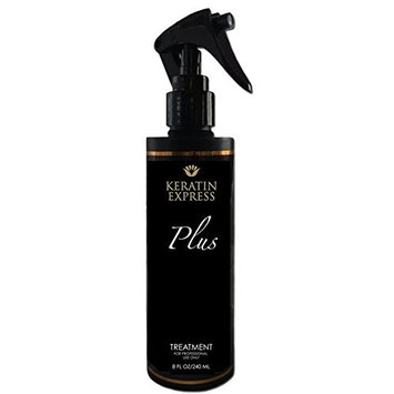 Keratin Express Plus Smoothing Treatment Professional Hair Treatment up to 12 weeks, 8 fl oz Do not use it on Pregnant Women, Children and Nursing. This product contains Formaldehyde.