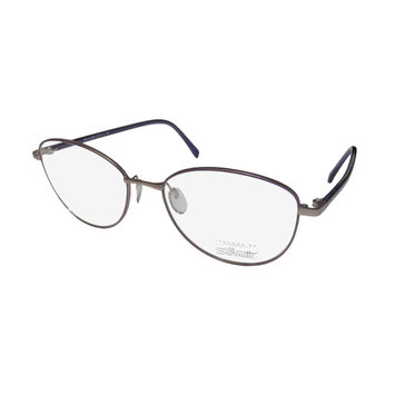Silhouette 3505 Womens/Ladies Designer Full-Rim Lavender / Gray / Pattern Frame Demo Lenses 54-17-130 Eyeglasses/Glasses