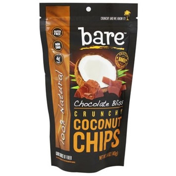 Bare Fruit - 100% Natural Crunchy Coconut Chips Chocolate Bliss - 1.4 oz.pack of 2