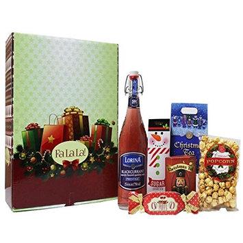 Gift Box Pros - Exclusive Deluxe Lorina French Soda Sparkling Christmas xmas Gourmet Snacks Gift Box Set - Gift Box Set of 6 - Gift Box Set Christmas - Gift Box Set for Men - Gift Box Set for Women