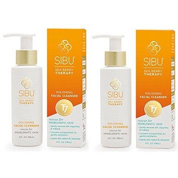 Sibu Sea Berry Therapy Polishing Facial Cleanser (Pack of 2), Rescue for Problematic Skin, With Jojoba Oil, Orange Peel, Sea Buckthorn, Bergamot, Grapefruit, Tangerine and Coriander, 4.0 fl. oz.