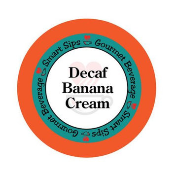Smart Sips DECBANCREA24 Decaf Banana Cream Coffee for All Keurig K-cup Machines 24 Count