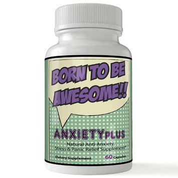 Nutra4health Llc Anxiety Relief Ansiedad Pastillas Pastillas para Aliviar Depresion, Ansiedad y Tristeza Anti Anxiety Supplement Born to Be Awesome Anxiety Pills 60 Count