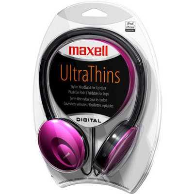 Maxell Headphones, UltraThins, Digital, 1 pair