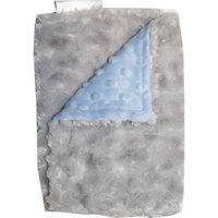 Lil Cub Hub Blue Dot/Silver Rosebud Solid Burp Cloth