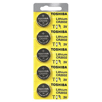 Toshiba CR2032 3 Volt Lithium Coin Battery 500 pcs