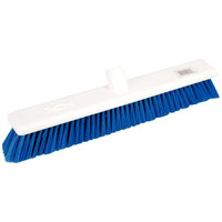 Jantex Hygiene Broom Soft Bristle Blue 18In Brush Only Sweeping Cleaning