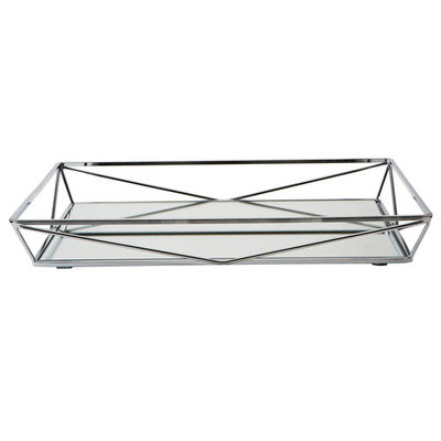 Home Details Geometric Mirrored Vanity Tray