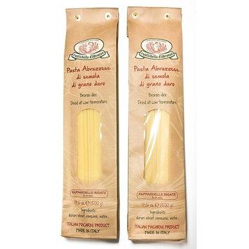 Rustichella dAbruzzo Pappardelle Rigate Pasta, 17.6 oz - 2 Pack