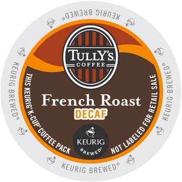 Tully's Coffee Tully's French Roast Decaf Extra Bold Coffee, K-Cup Portion Pack for Keurig Brewers