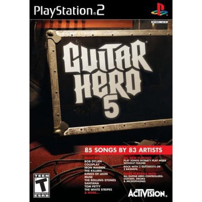 Sony Guitar Hero 5 Software Only PlayStation 2 (PS2) Game Activision