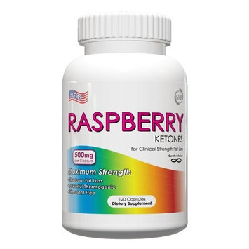 Genetic Solutions Raspberry Ketones 500mg Natural Weight Loss Supplements (120 Capsules)