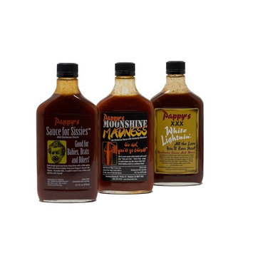 Pappy's Barbecue Sauce Bundle - Sauce for Sissies, Moonshine Madness and XXX White Lightnin Barbecue Sauce