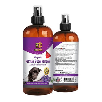 Pet Stain & Odor Remover Spray For Pet Odor Elimination Of Dog & Cat Urine Stains - Best Organic Enzyme Cleaner - Lavender, Citrus, Mint With Tea Tree Oil - 3 VARIETY PACK - 4 FL Oz by Pet Diesel