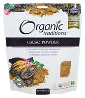 Organic Traditions - Cacao Powder - 8 oz(pack of 2)