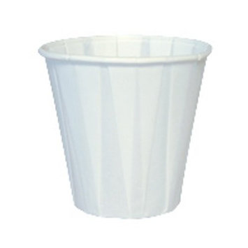 Genpak W450F 2-3/8-Inch Top Diameter by 1-1/2-Inch Bottom Diameter 2-1/4-Inch Height White Color 3.5-Ounce Paper Pleated Drinking Cups 100-Pack (Case of 25)