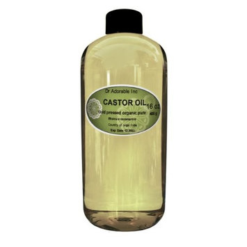 Castor Oil Pure Organic Cold Pressed Virgin by Dr.Adorable 16 Oz/1 Pint