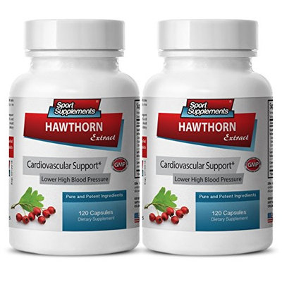 Hawthorn berry capsules - Hawthorn Berry Extract 240 Capsules - Tonic for the heart (2 Bottles)