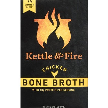 Kettle & Fire Chicken Bone Broth Organic Collagen-rich Bone Broth, 16.2 ounce [Chicken]