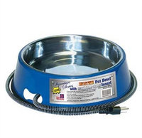 Farm Innovators Heated Stainless Steel 3Qt Bowl Blue