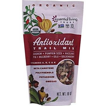 Essential Living Foods 18oz Organic Antioxidant Trail Mix Cashew & Pumpkin Seed & Hazelnut & Fig & Mulberry & Goji & Goldenberry NT WT 1.1lbs Bag