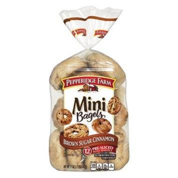 Pepperidge Farm® Mini Brown Sugar Cinnamon Bagels, 17oz Bag, 12pk