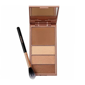 PROFUSION Glamour Bar Bronzer & Luminizer Palette And Setting Brush