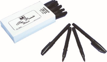 Mutual Industries 'The Pointer' Permanent Fine Tip Marker, Black (Pack of 12) (Pack of 2)
