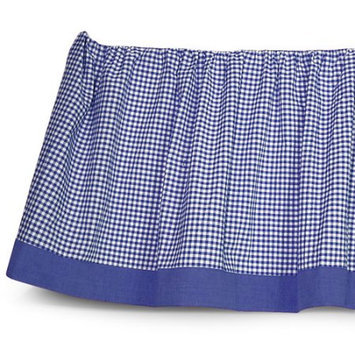 Sleeping Partners Seed Sprout Basics Gingham Dust Ruffle, Navy