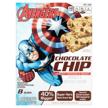 Conagra Foods Marvel Avengers Peanut Butter Chocolate Chip Chewy Granola Bars, 1.2 oz, 8 count