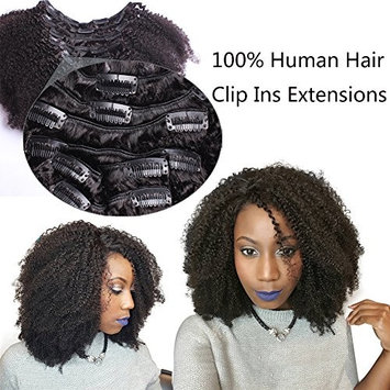 4B 4C Afro Kinky Curly Hair Clip Ins 100 Virgin Human Hair Clip In Extensions Full Head African American Hair for Black Women 12