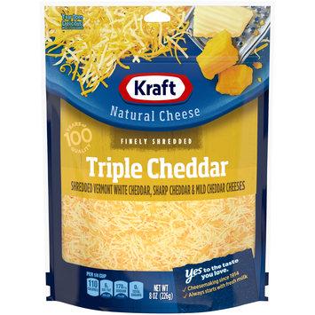 Kraft Finely Shredded Triple Cheddar Natural Cheese