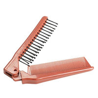 1 Sets Combs Hairbrush Professional Fold Tail Comb Salon Folding Hair Brush Care Anti-Static Combing Silicone Combo Pocket Long Round Handle Holder Pride Popular Beard Natural Kids Travel Kit