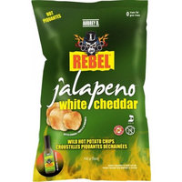 Spicy Jalapeno and Creamy Cheddar - A Wonderful Cheesy Kick to Every Bite of Aubrey D. Rebel Jalapeno White Cheddar Potato Chips