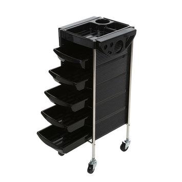 Barber Cart Salon Trolley Tray Cart Hairdressing Trolley Hair Cart 6 Layers Storage Cart Hair Rolling Cart Black