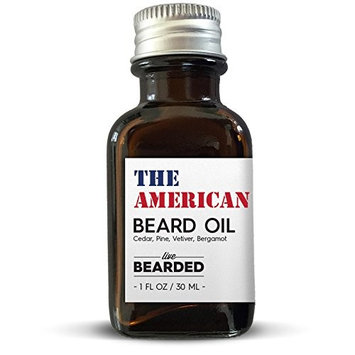 All Natural Beard Oil | Proudly Made in the USA | Live Bearded (Campfire Fragrance - The American Beard Oil)