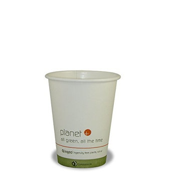 Planet + 100% Compostable PLA Laminated Hot Cup, 8-Ounce, 500-Count Case [500]