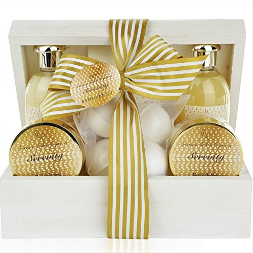 Spa Gift Baskets For Women - Sulfate Free Bath & Body Lotion Gift Set. Relaxation Gift Basket for Her Pampering Spa At Home! Luxury Mothers Day Gift for Mom, Wife, Friends Pampering Gifts for Women!