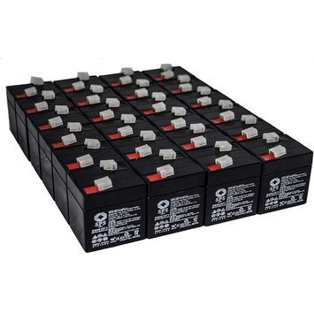 SPS Brand 6V 1 Ah (Terminal T1) Replacement battery for Lintronics MX06010 (24 PACK)