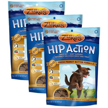 Not Available 3 Packs Zuke's Hip Action with Glucosamine and Chondroitin PEANUT BUTTER (3 lb)