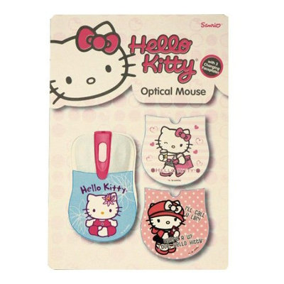 Sakar Hello Kitty Mouse - Optical - Cable - USB - Scroll Wheel