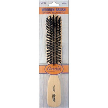 [Pack of 6] Annie Wooden Brush Natural Boar Bristle #2090- Hard : Beauty