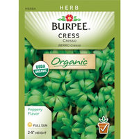 Burpee-Cress, Cresso Organic Seed Packet