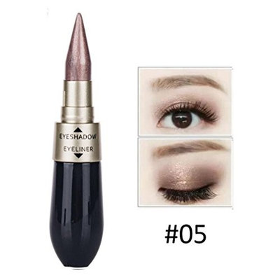 Inverlee Double-end Waterproof Liquid Dual-use Eyeliner Fluid Eyeshadow Eyeliner Combination Easy To Makeup